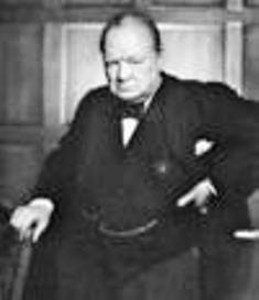 Winston Churchill, British Prime Minister, WWII