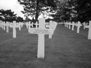 Gravesite, Amercian Cemetery - Normandy, France